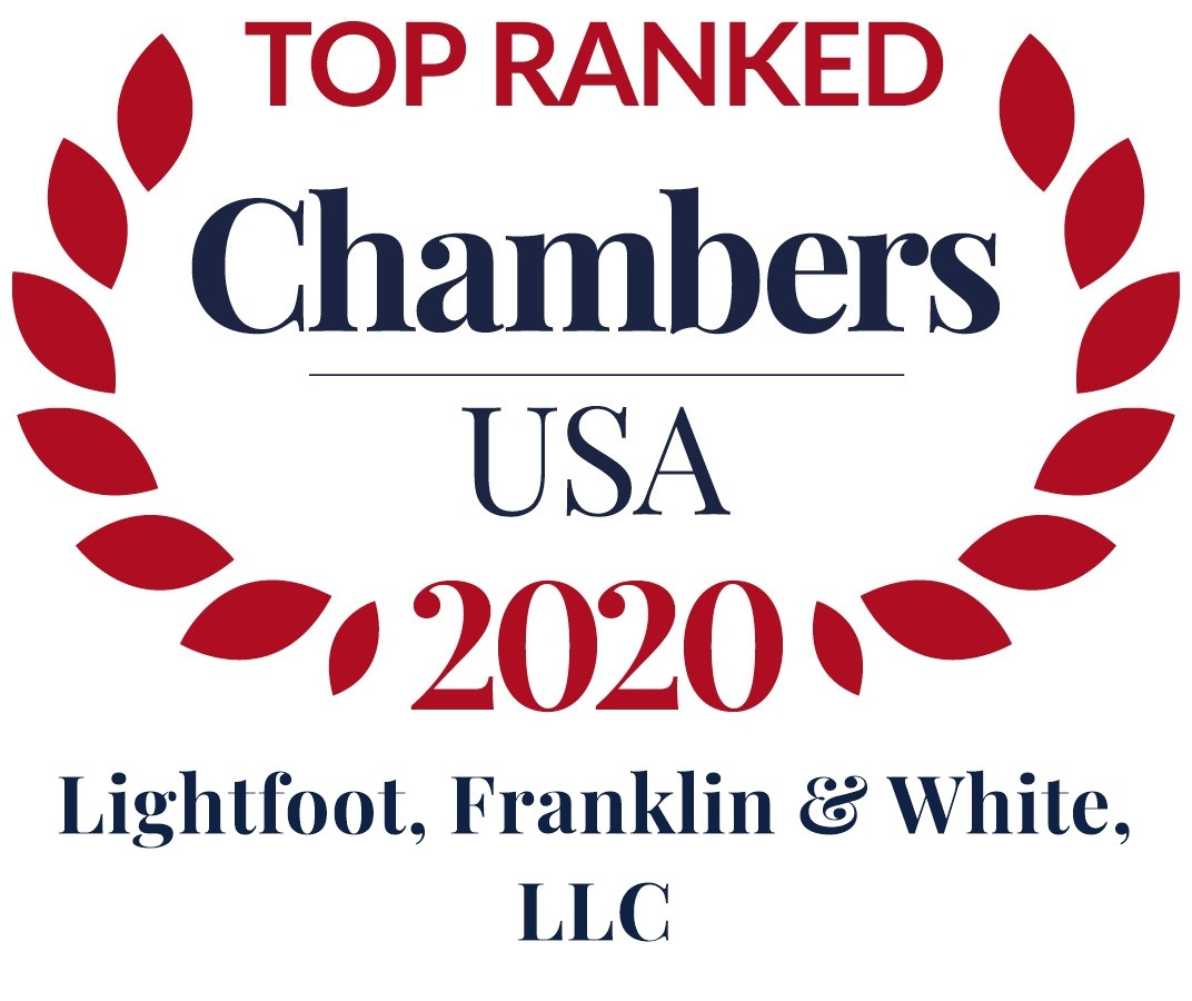 Chambers USA 2020; Lightfoot, Franklin & White, LLC