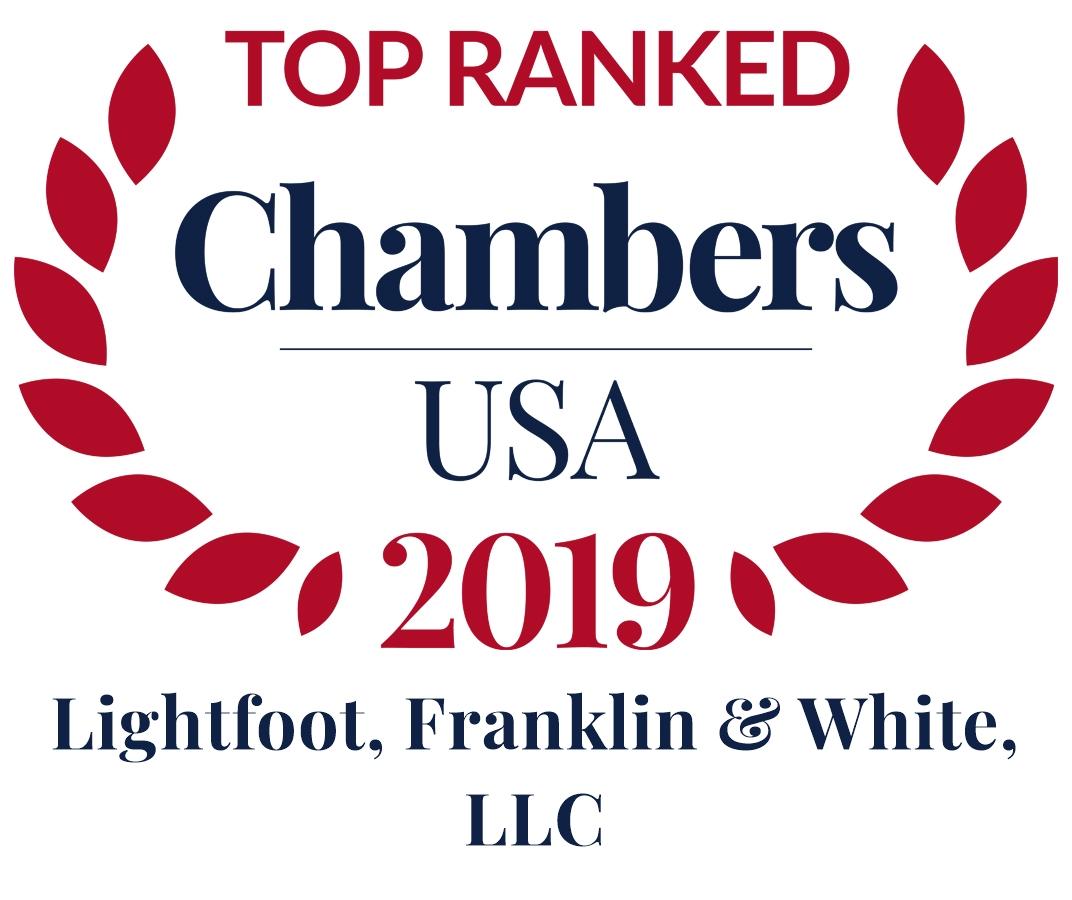 Chambers USA 2019; Lightfoot, Franklin & White, LLC