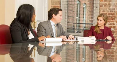 Three Attorneys Talking